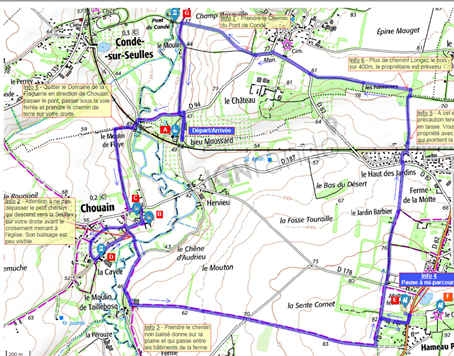 Different walking trails start from the Estate